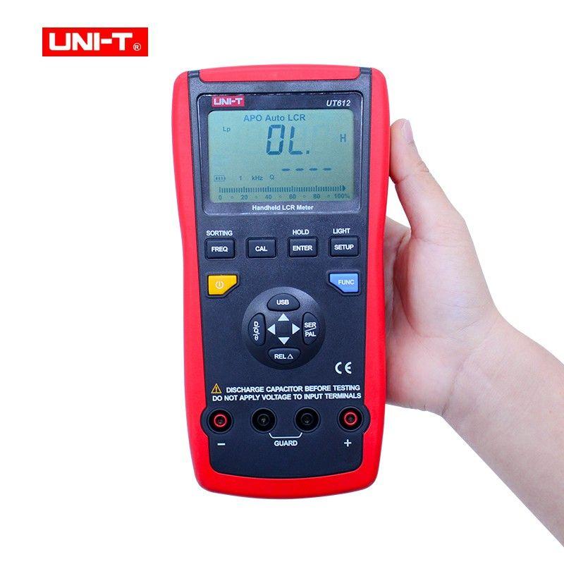 UNI-T UT612 Usb-schnittstelle 20000 Zählt Induktivität Frequenz Test Abweichung Verhältnis Messung LCR Meter mit box