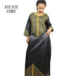 Robes pour les femmes africaines Dashiki Robes bazin riche vêtements traditionnels africains Pour dames sans écharpe