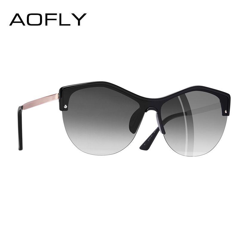 AOFLY BRAND DESIGN Women Cat eye Sunglasses 2018 Female Retro Style Shades UV400 Oculos de sol <font><b>Feminino</b></font> A113