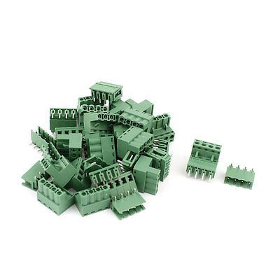 20 Pair 4 Pins 5.08mm Pitch Male Female PCB Screw Terminal Block Connectors