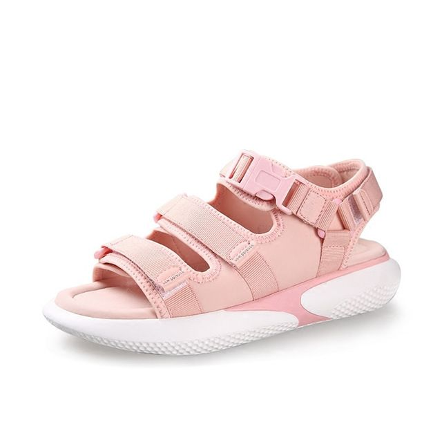 Sports Shoes Sandals Female Students Summer Flat Wild Flavor Chic Wind Pine Cake Thick Bottom Beach Outdoor Sandals Shoes Woman