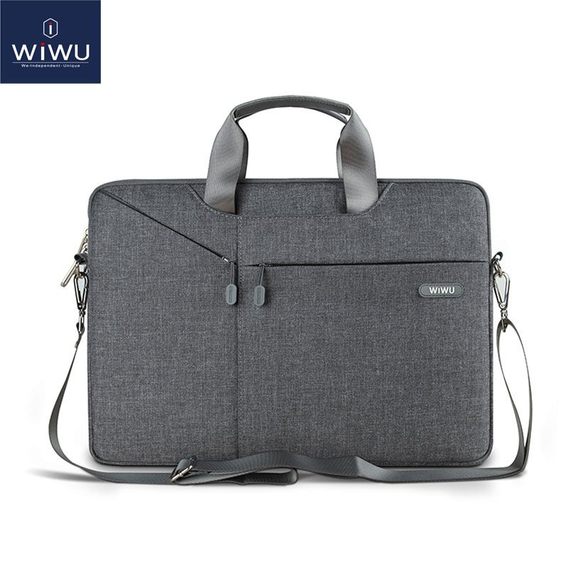 WiWU Newest Laptop Shoulder Bag 11 12 13.3 14 15.4 15.6 Waterproof Nylon Notebook Bag for Dell 14 Laptop Bag for Macbook 13 Air