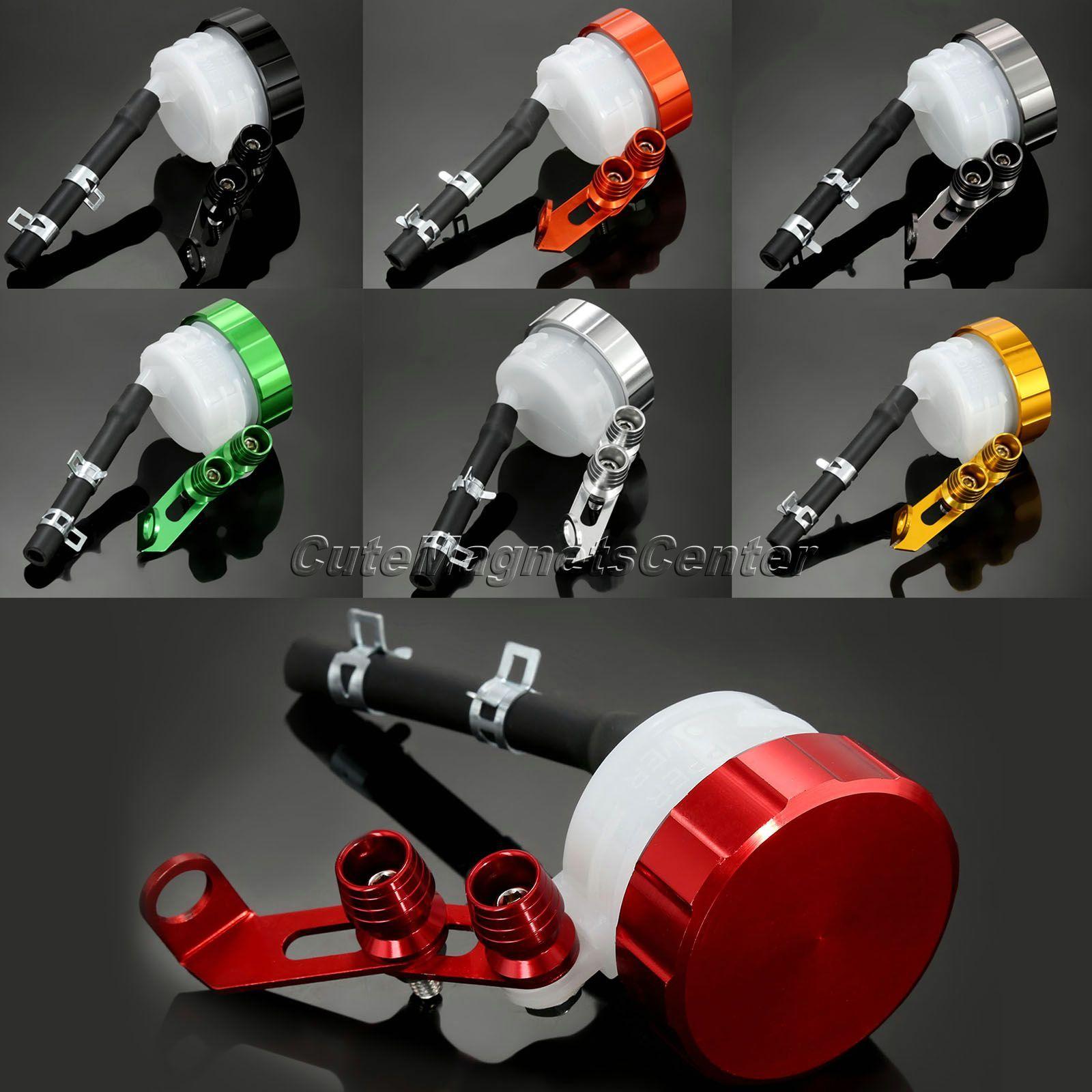 Mtsooning CNC réservoir de liquide de frein moto réservoir d'embrayage huile fluide tasse pour Aprilia Ducati Honda Kawasaki Suzuki Triumph Yamaha