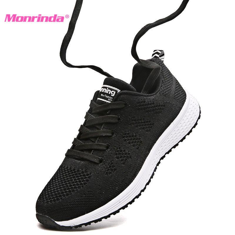 2018 Automne Femmes Sneakers Maille Respirante Femmes Chaussures de Course Léger Sport Chaussures Femme Jogging zapatillas mujer deportiva
