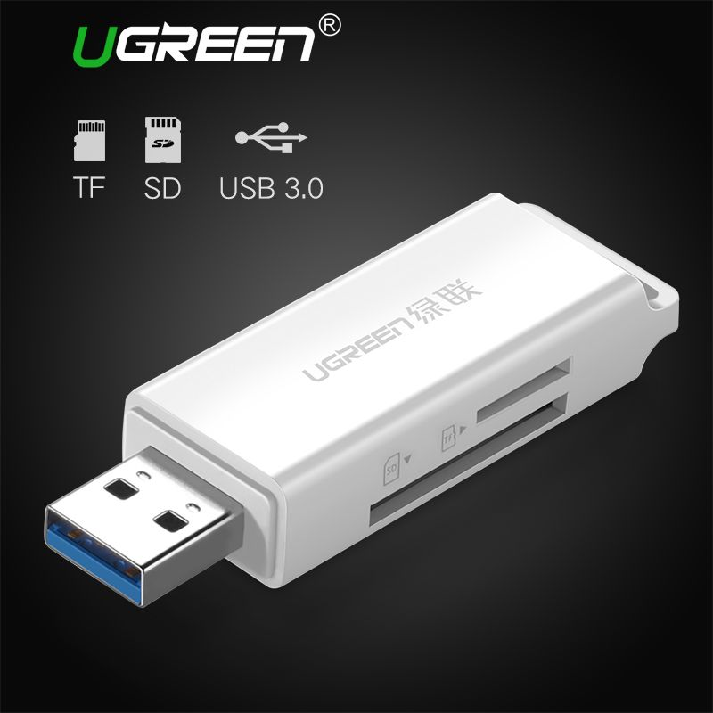Ugreen USB 3.0 Kartenleser SD Micro SD Mini Smart Card Reader für MacBook Max 256 GB Speicherkartenleser Alle in Einem USB SD Adapter