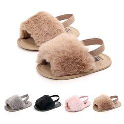 Bébé Infantile de Filles Doucement Sole Chaussures En Peluche Glisser Sandale D'été Enfant Sandales Princesse antidérapante Lit Chaussures