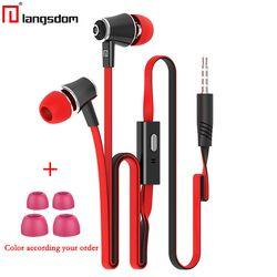D'origine Langsdom JM21 JV23 écouteurs avec Microphone Super Bass Écouteurs Casque Pour iphone 6 6 s xiaomi écouteurs smartphone