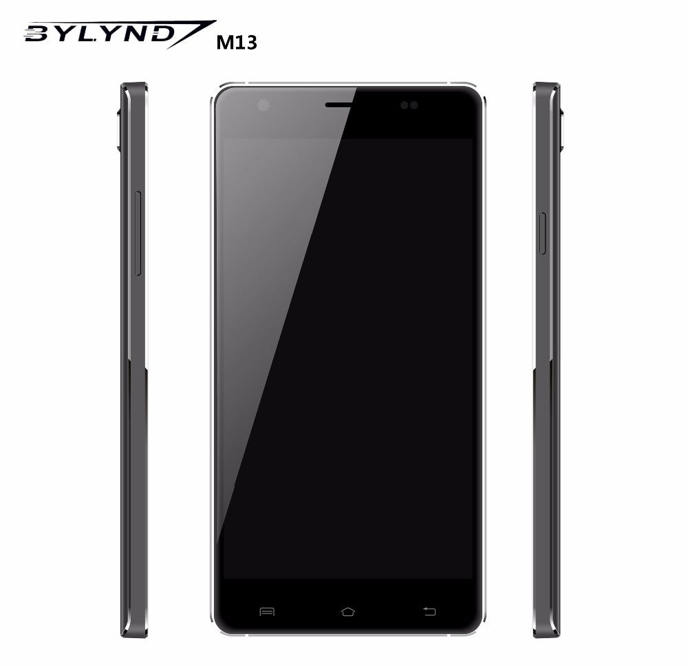 Original BYLYND M13 4G LTE mobile phones 5MP + 13MP Camera 2GB RAM 16GB ROM Quad Core 1920x1080 Android 5.1 Smartphones