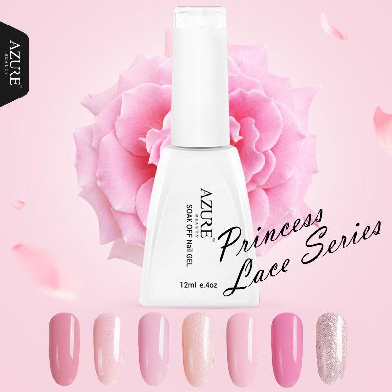 Azure Красота принцессы серии Цвета uv гель для ногтей розовый гель выдерживает-светодиодные лампы Гели для ногтей Польский Лаки для Длинные -п...