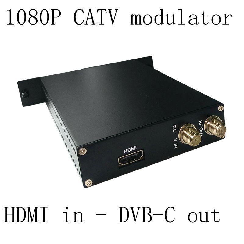 1080P AV HDMI to DVB-C encoder modulator Digital TV Headend QAM RF Modulator dvb-C digital modulator