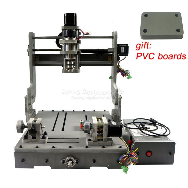 Holz drehmaschine DIY 3 achsen 4 achsen 3040 MINI CNC Router PCB Gravur Bohren und Fräsen Maschine