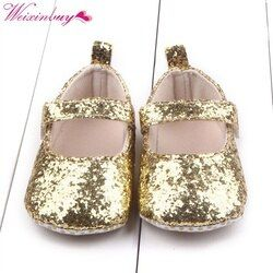 Bébé Mignon Chaussures Premier Marcheur Tout-petits Enfants Filles Coton Sequin Infantile Semelle Souple Chaussures Fond Bebe Chaussures