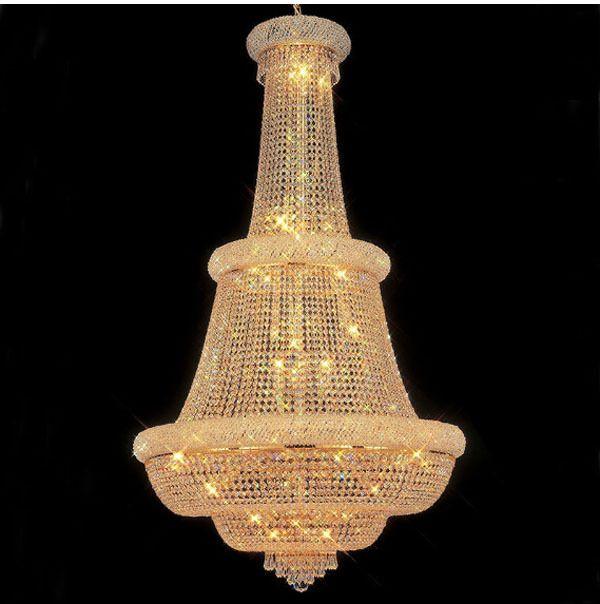 Phube Beleuchtung Große Foyer Eingangsbereich Kristall Kronleuchter Französisch Reich Gold Kristall-kronleuchter Licht Beleuchtung + Freies verschiffen!