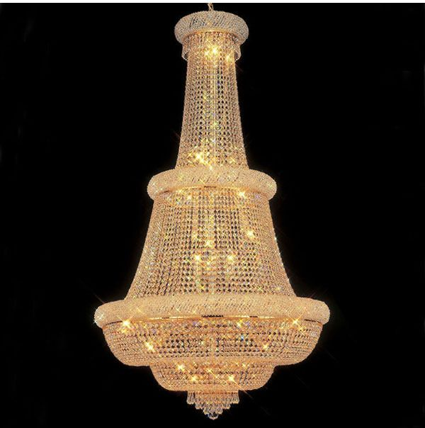 Phube Lighting Large Foyer Entryway Crystal Chandelier French Empire Gold Crystal Chandeliers Light Lighting+Free shipping !