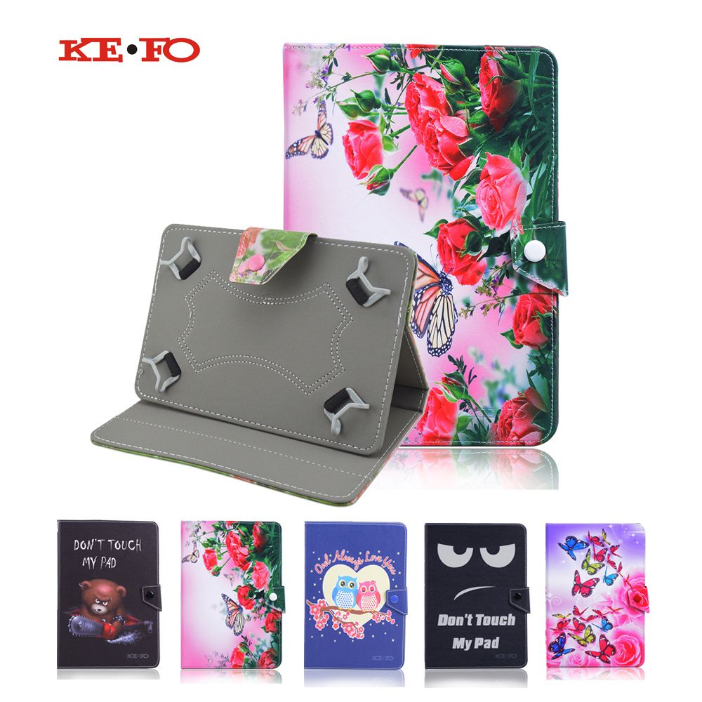 For Amazon Fire HD funda tablet 10.1 universal PU Leather Case cover for Oysters T104MBI 3G 10 inch tablet+Center Film+pen