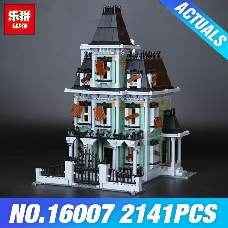 LEPIN 16007 2141Pcs Monster fighter The haunted house Compatible With 10228 Toy Model set Building for Kit DIY Educational Gifts