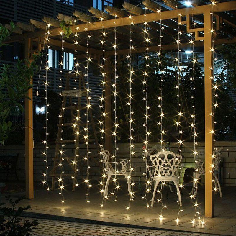 4.5M x 3M 300 leds US110v EU220v Christmas Garlands LED String Lights Fairy Xmas Party Garden Wedding Decoration Curtain Lights