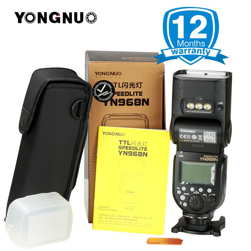 YONGNUO YN968N Wireless Flash Speedlite Equipped with LED Light YN968 TTL Flash for Nikon DSLR Camera YN622N YN560-TX RF603
