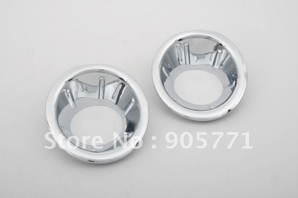 High Quality Chrome Front Fog Light Cover for Nissan Navara / Frontier D40 06-09 free shipping