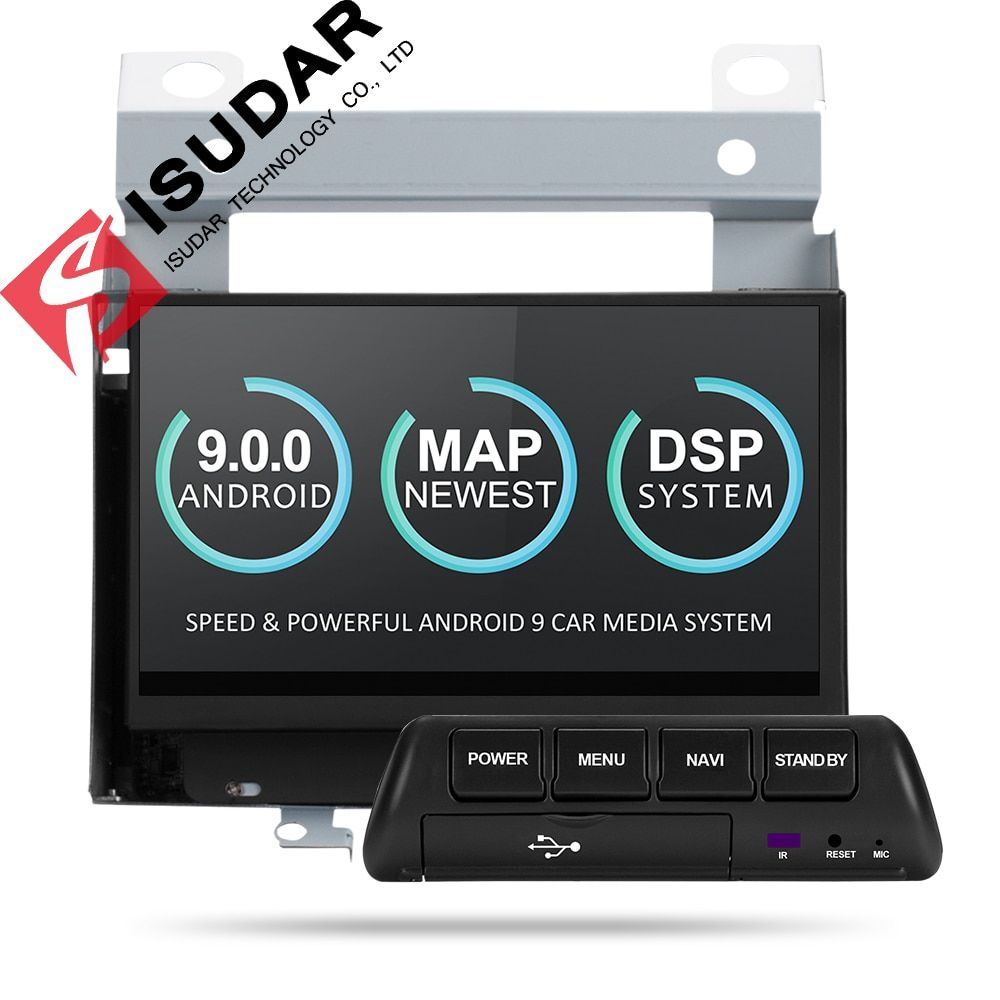 Isudar Auto Multimedia-Player 2 Din Android 9 Für Land Rover/Freelander 2 2007-2012 GPS Automotivo Radio Wifi quad Core DVR DSP