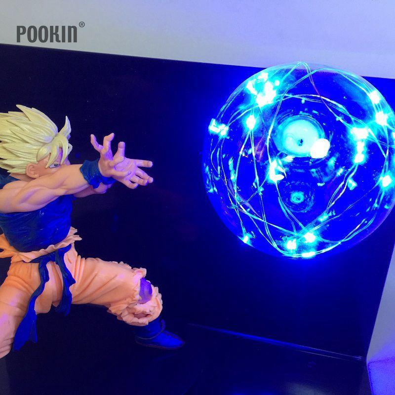 Новейший Dragon Ball Сон Гоку Четыре цвета бомбы Luminaria светодиодный свет ночи праздник подарок номер декоративные светодиодные Освещение в ЕС и ...