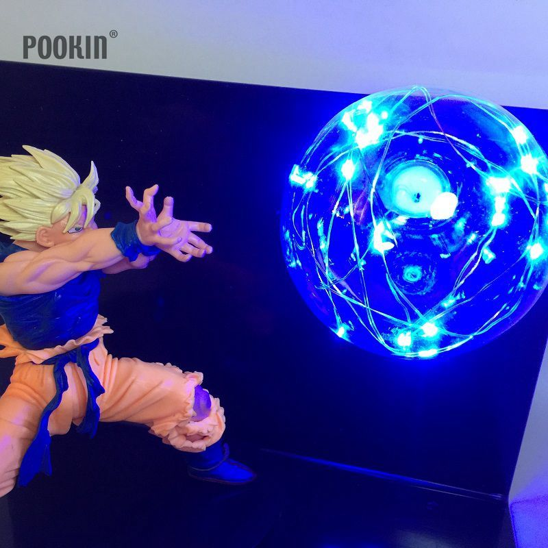 Newest Dragon Ball Son Goku Four Colors Bombs Luminaria Led Night Light Holiday Gift Room Decorative Led Lighting In EU US Plug
