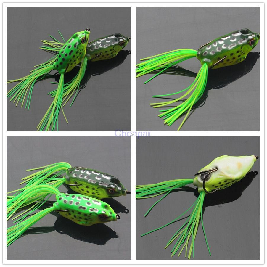 Hot selling Fishing frog Lure fishing tackle hook 6 cm 14g fishing artificial Lure Soft bait