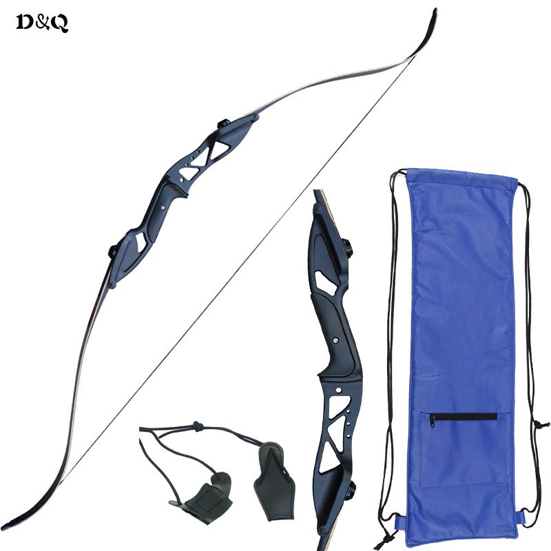 Archery Hunting Recurve Takedown Bow Set 30-50 lbs Aluminum Alloy Right Hand Longbow 54.7 Inch for Outdoor Shooting Target Sport