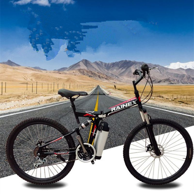 26 inch electric bicycle 36 V 10.8 Ah lithium battery electric mountain bike folding electric bicycle 350 W engine maximum speed