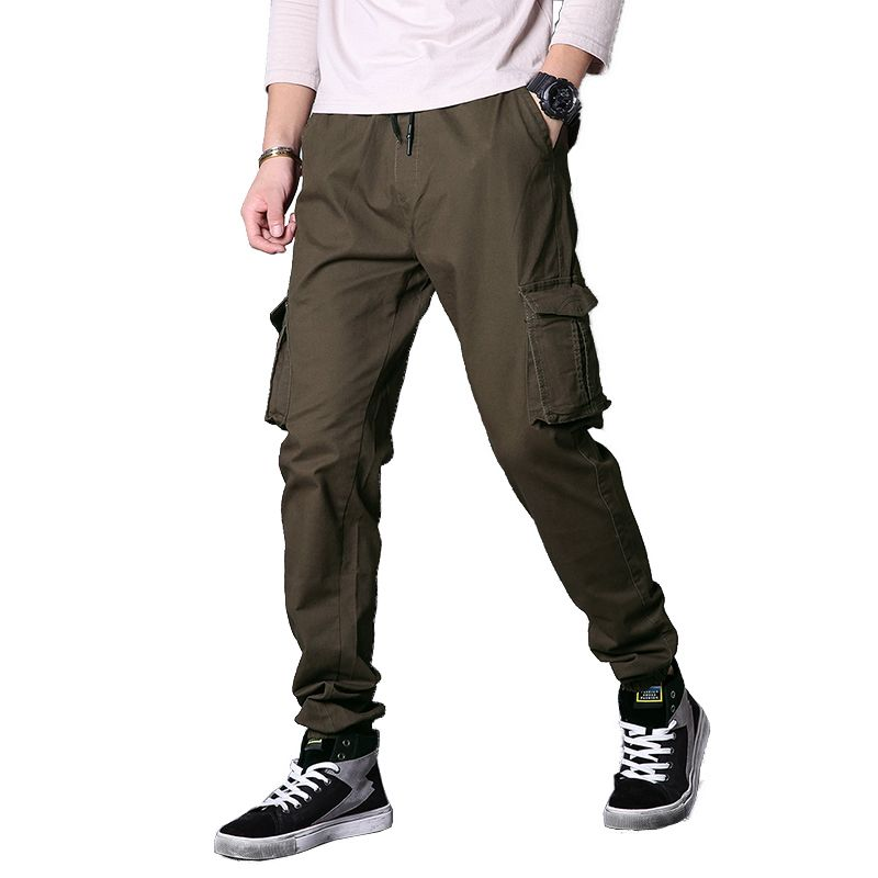 New Winter Spring Cotton Pants Men Tactical Cargo Pants Men's Slim Variety Casual Male Pants Army Military <font><b>Active</b></font> Trouser