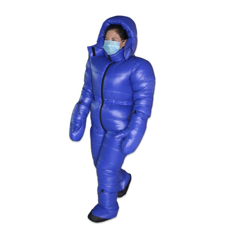 Hohe Qualität Neue Ankunft 3000G Weiße Gans Unten Füllung Winter Unten Anzug Warme Kleidung Verbunden Unten Jacke