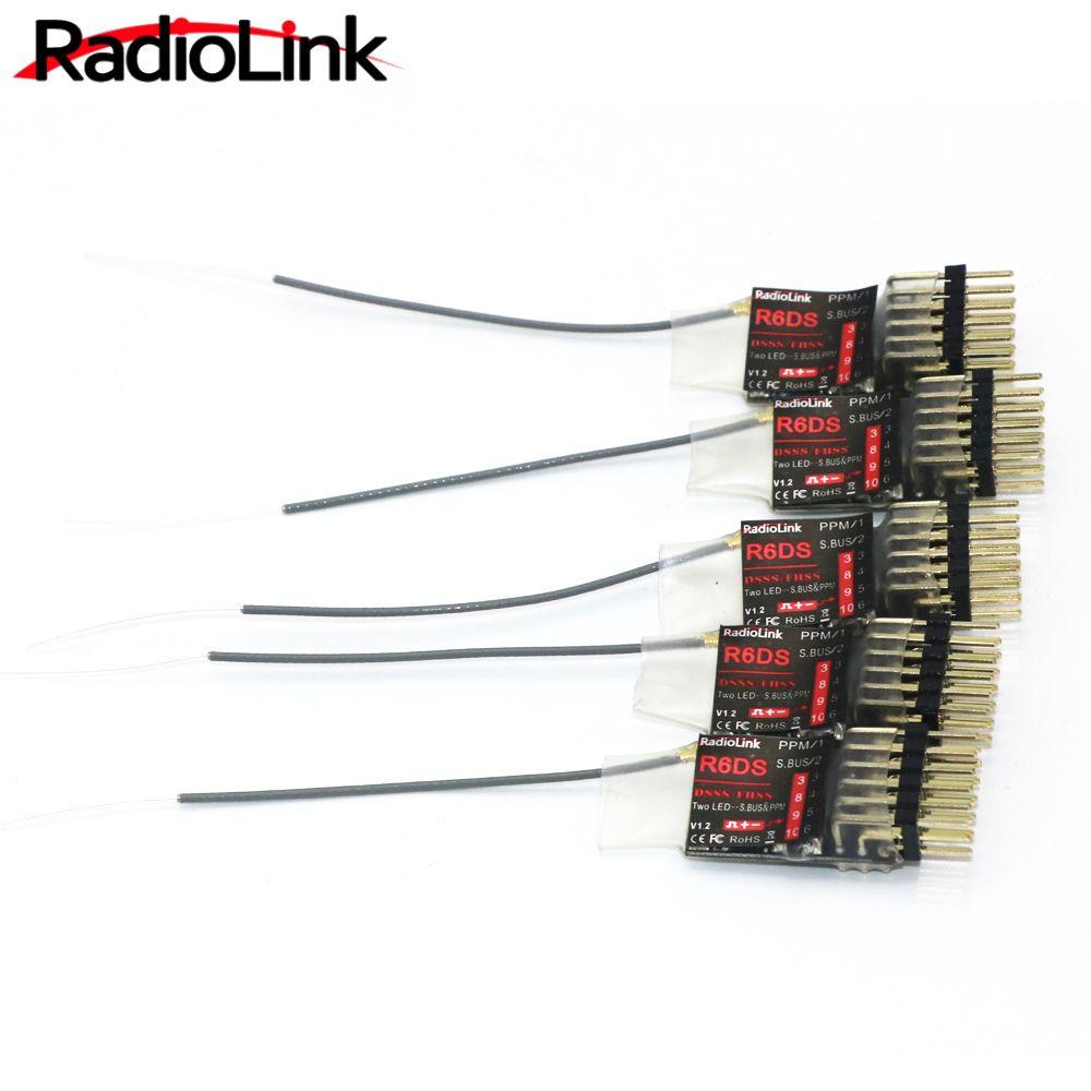 5 teile/los RadioLink R6DS 2,4G 6CH Empfänger Für AT9 AT10 Transmitter Unterstützung PPM SBUS