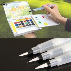 Rechargeable 1 Pc Brosse À L'eau D'encre Stylo pour L'eau Couleur Calligraphie Peinture Illustration Stylo Bureau Papeterie