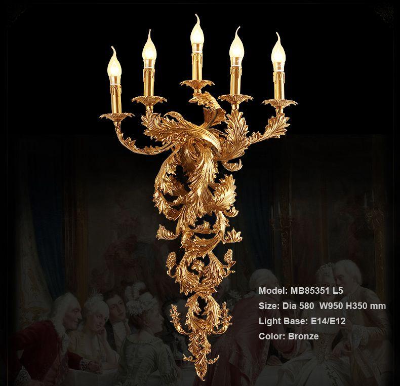 Vintage Wandleuchte Kerze Luxuriöse Wandleuchte Für Hotel Villa Schlafzimmer Halterung Beleuchtung Wandleuchten Lichter