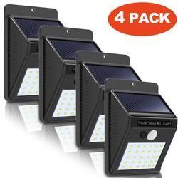 4X30 LED Solaire Mur Propulsé Motion Sensor Extérieure Jardin Lampe de Sécurité muqgew Sécurité murale Étanche