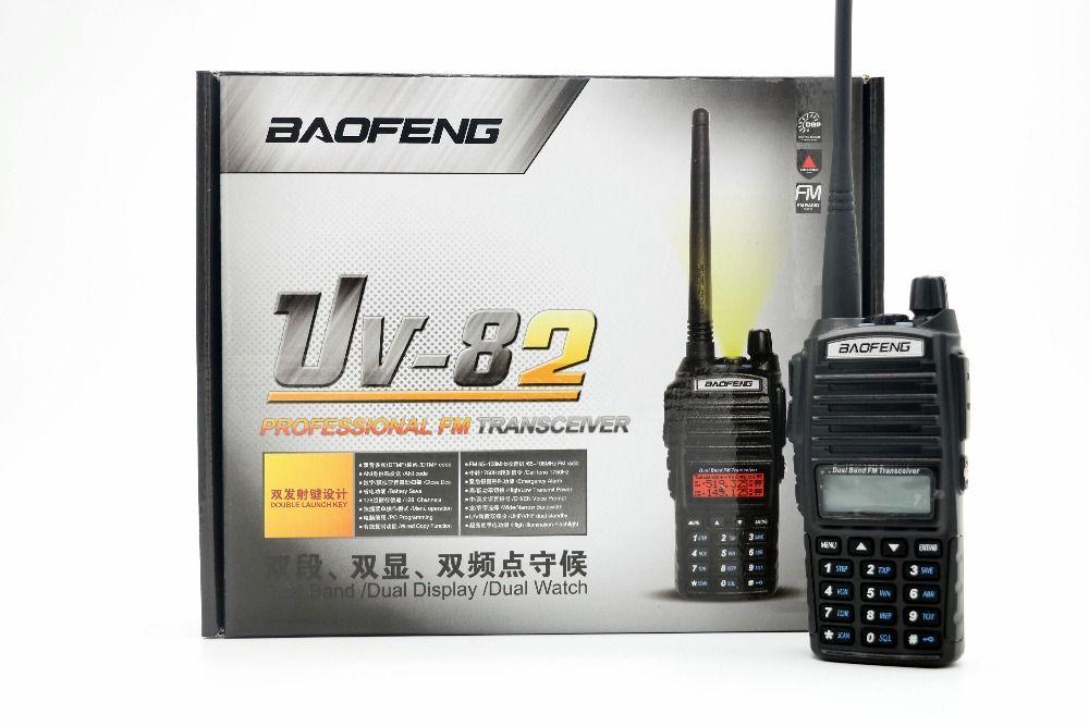 Baofeng UV-82 Talkie Walkie VHF/UHF 137-174/400-520 MHz Dual Band Radio Portable Avec FM et lampe de poche Radio Bidirectionnelle pour la chasse