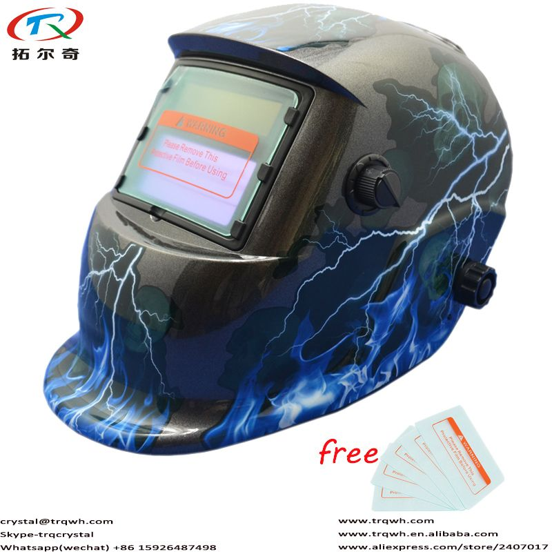 Lightning Best Welding Mask Chameleon Tig Mig Arc Protect Full Face and Eyes Grinding Function Fast Shipping TRQ-HD41-2233DE