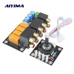 Aiyima RCA Audio Switch Input Selection Board Lotus Seat Stereo Relay 4-way Audio Input Signal Selector Switching Amplifier DIY