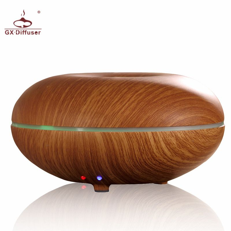 GX.Diffuser 7 colors Changing Ultrasonic Air Humidifier Essential Oil Aroma Diffuser Household Aromatherapy Mist Maker Fogger