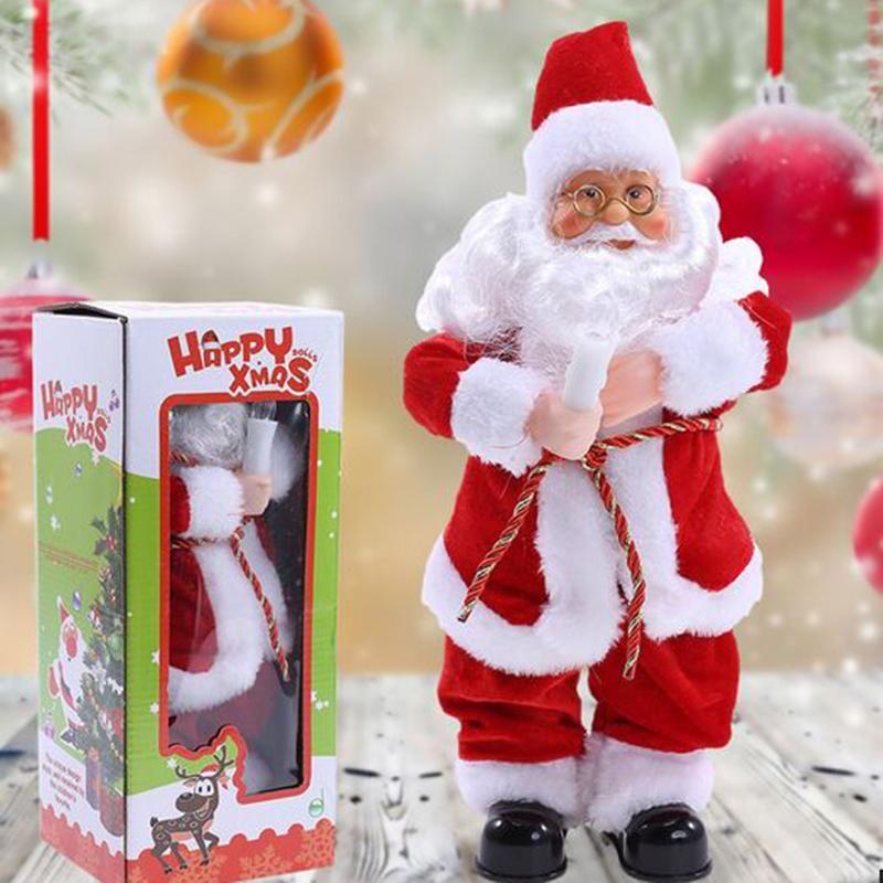 Navidad Santa Claus baile activo juguete con función de sonido niños casa juguetes regalo de Navidad Decoración artesanía niños eléctrico Juguetes