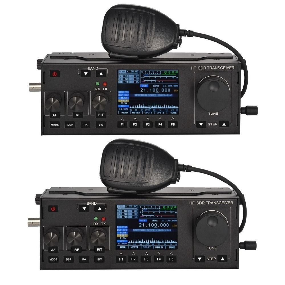 RS-918 SSB HF SDR Transceiver 15W Power Mobile Radio RX:0.5-30MHz TX:All ham Bands Multifunctional Instrument