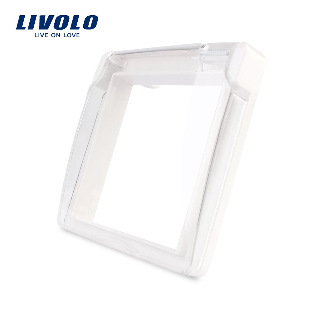 Livolo EU Standard  Socket  Waterproof Cover , Plastic Decorative For Socket, White color ,C7-1WF-11,do not include the sockets.