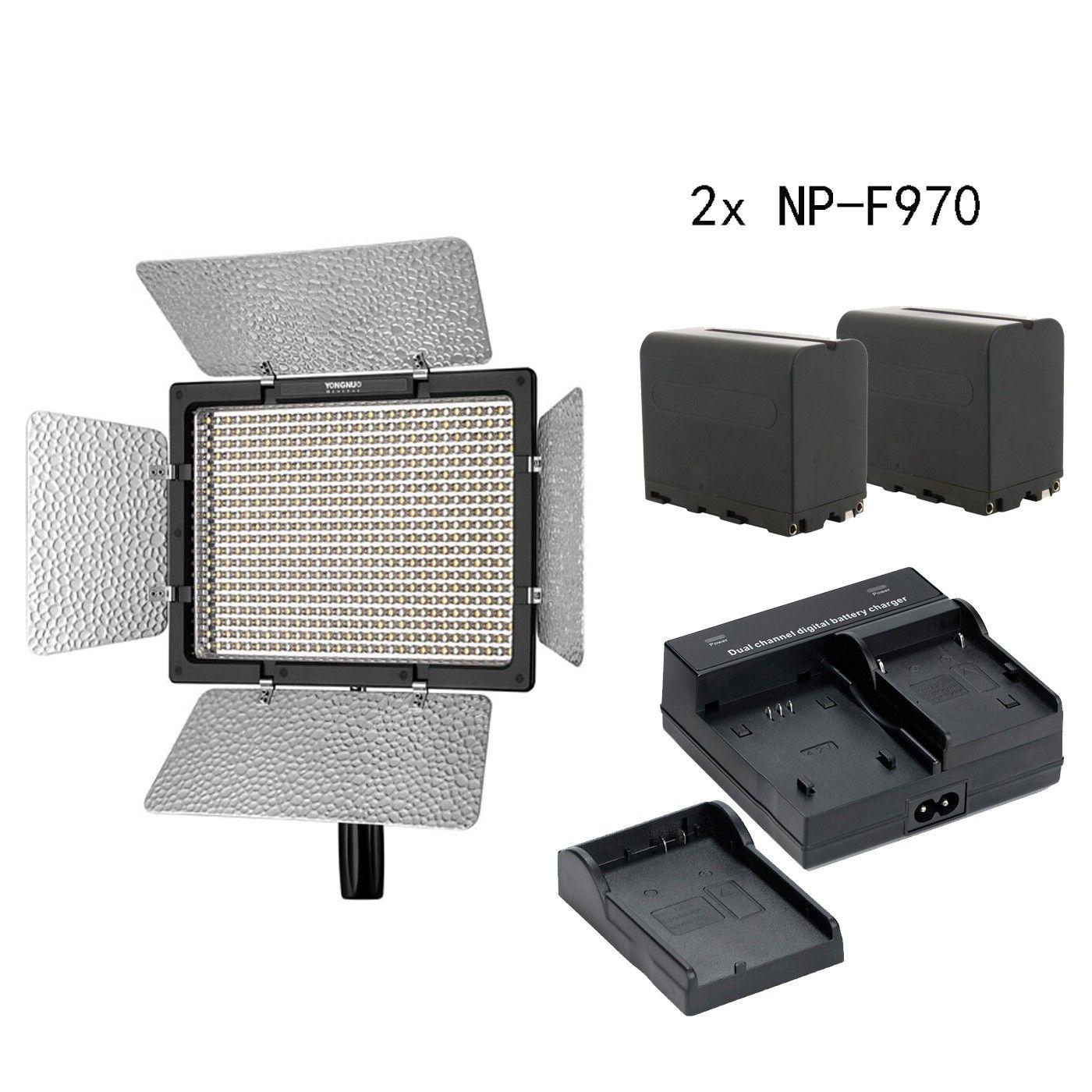 YONGNUO YN600L II YN 600 II CRI 95 Panel LED Video Light Remote control & 2* NP-F970 battery & charger