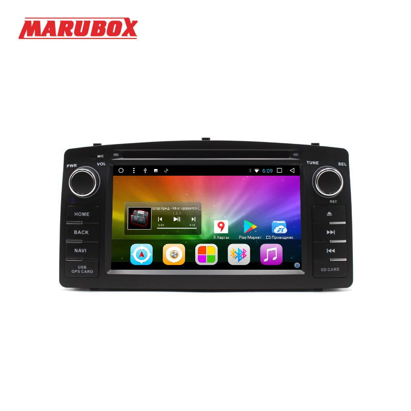 MARUBOX 6A900DT3,Car Multimedia Player For Toyota Corolla E120 BYD F3,Quad Core, Android 7.1,2GB RAM, 32GB ROM,DVD,GPS,USB,Radio