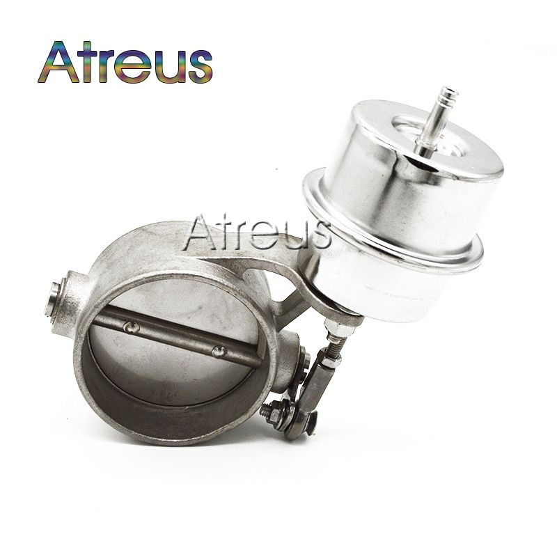 Stainless Steel 2 2.5 3 inch 51mm 63mm 76mm Pipe Car Exhaust Control Valve Set Boost Actuator CLOSED Style Pressure About 1 BAR