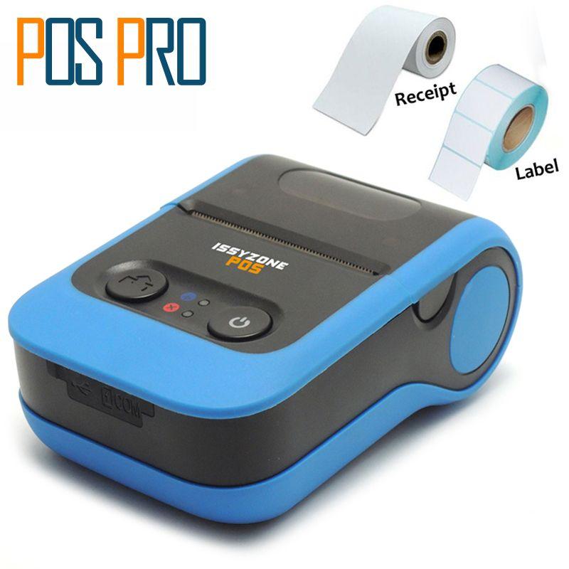 IMP020 как Для Получения и Этикетки 2 дюймов 58 мм Портативный Принтер Bluetooth термопринтер Android/iOS/Окна с Литиевой батареей