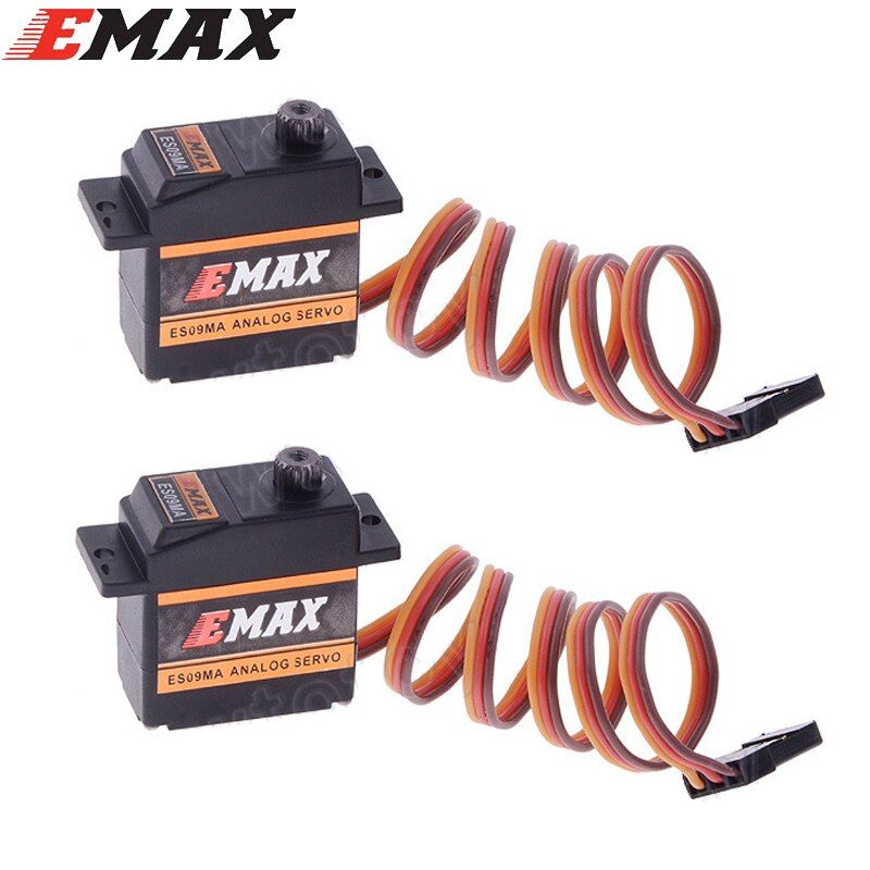 2pcs Original EMAX ES09MA Metal Analog Specific Swash Servos for 450 Helicopter Tail better emax es08ma ii