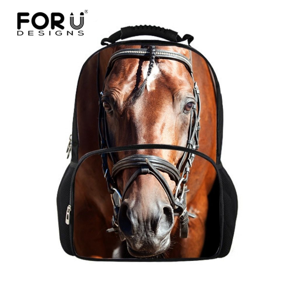 FORUDESIGNS Cool Children 3D Animal Felt Backpack Men's Backpack Crazy Horse Bag for School Girls College Student Bagpack Retail