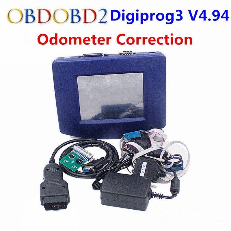 Digiprog 3 OBD Version Entfernungsmesser-korrektur Werkzeug Digiprog III Wichtigsten Einheit NUR Digiprog3 Laufleistung Programmierer OBD2 ST01 ST04 Kabel