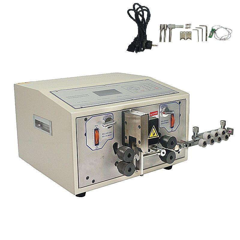SWT508E automatic computer cable wire stripper scraper machine for stripping cutting teflon fiber glass wire 0.1mm to 8mm